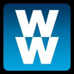 Picture of WeightWatchers logo, two white W's on blue background.