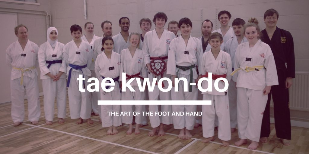 A group of tae kwon do students