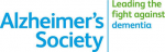 The logo for the Alzheimer's Society with the word Leading the fight against dementia.