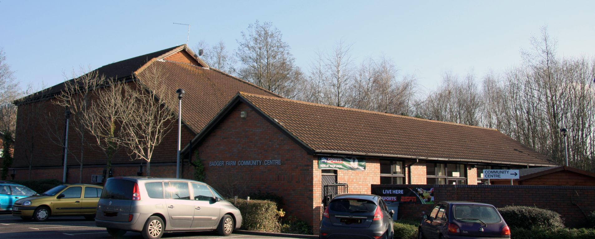 A view of the Badger Farm Community Centre
