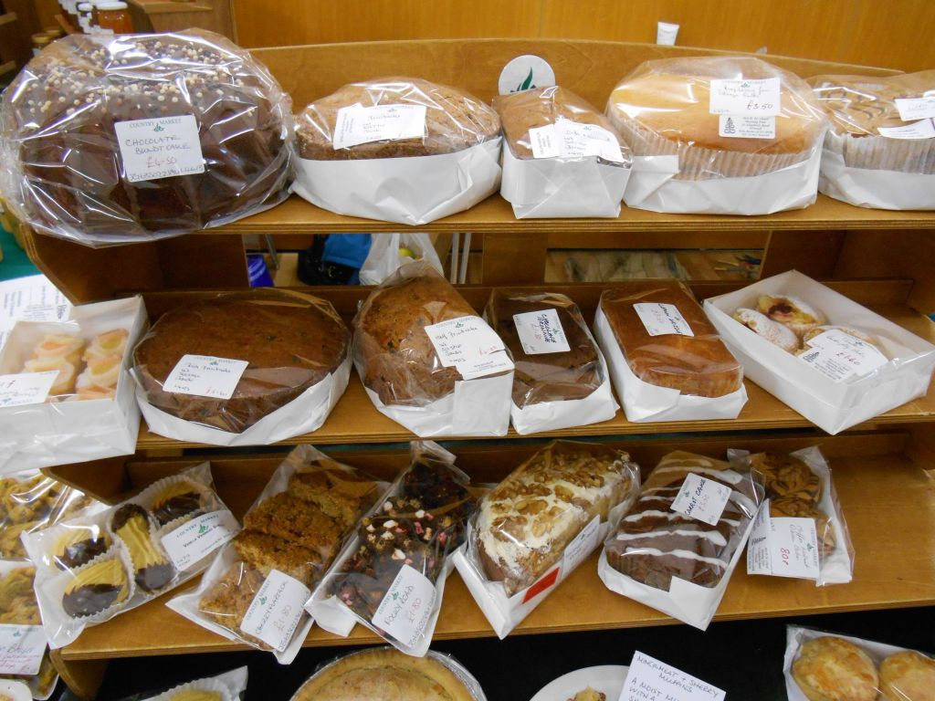 The cake stall at the Country Market