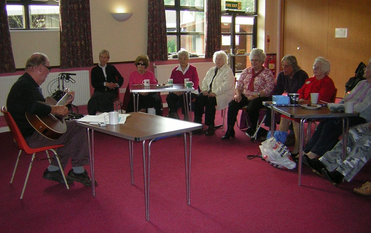 A session at the Brendon Care Badger Farm Friendly Group