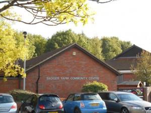 An external shot of the Badger Farm Community Centre