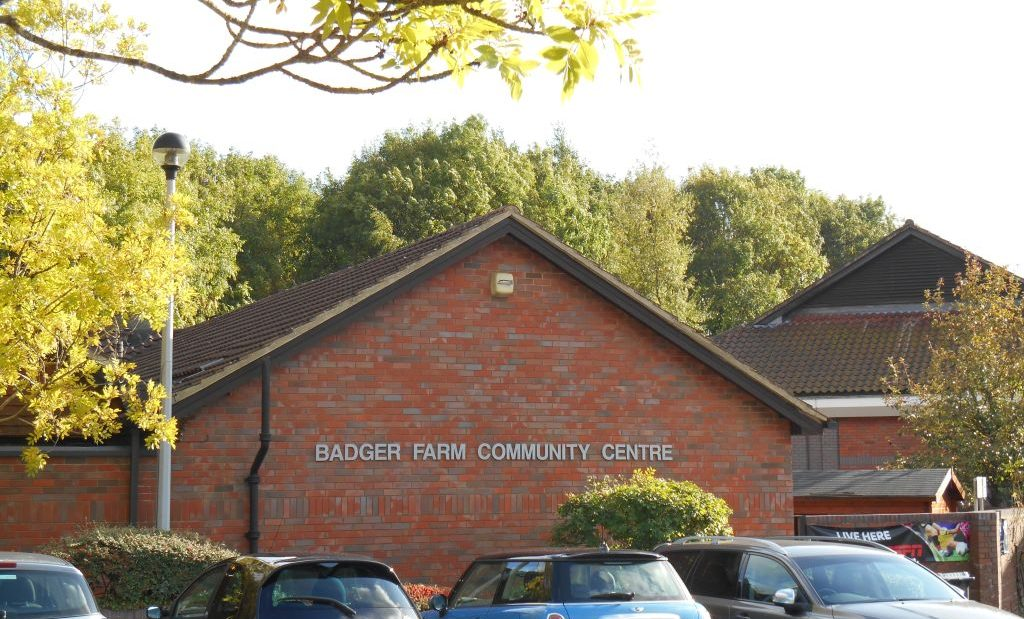 An external shot of the Badger Farm Community Centre