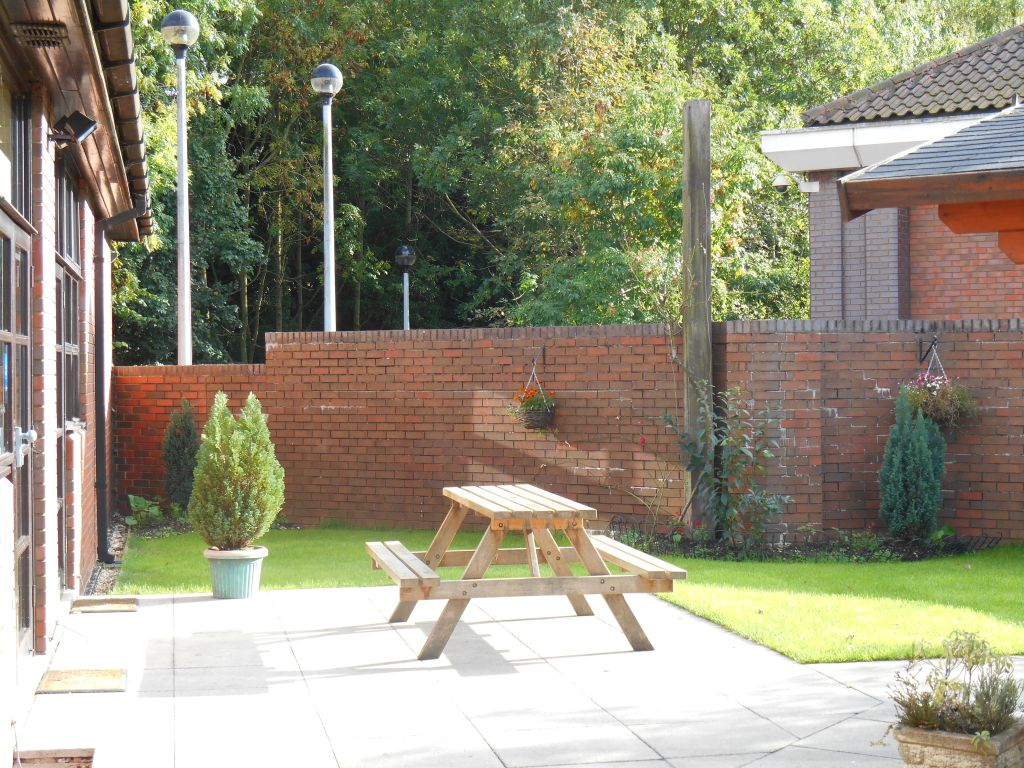 The garden at the Badger Farm Community Centre