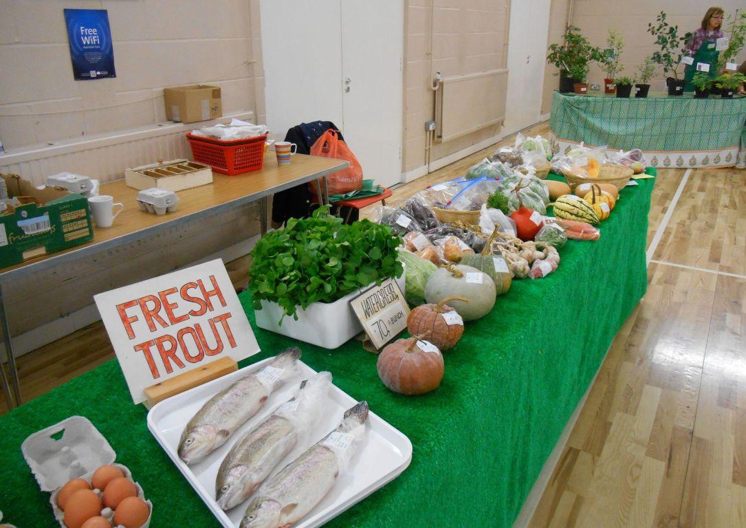 Fresh fish and produce