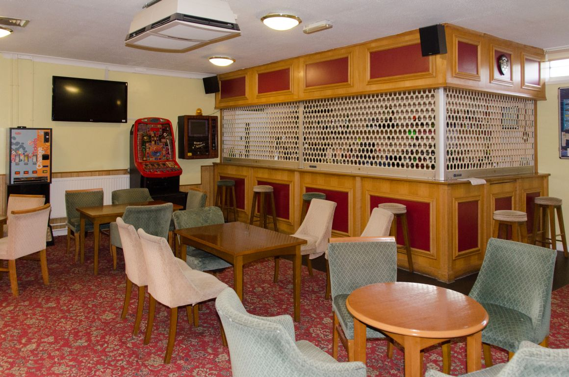 The bar at the Badger Farm Community Centre