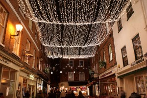 Christmas lights in The Square, Winchester