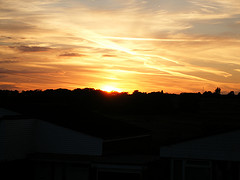 A photo of the sunset from Oliver's Battery, Winchester