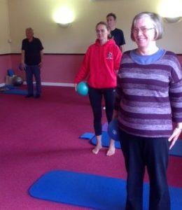 Ladies preparing for a Stott Pilates Class.