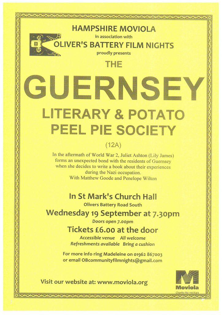 Guernsey Literary & Potato Peel Pie Society talk.