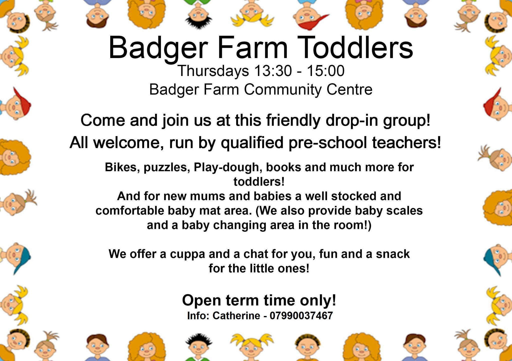 Badger Farm Toddlers every Thursday 1pm to 3pm