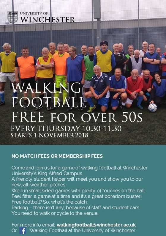 Picture of people getting ready to enjoy walking football