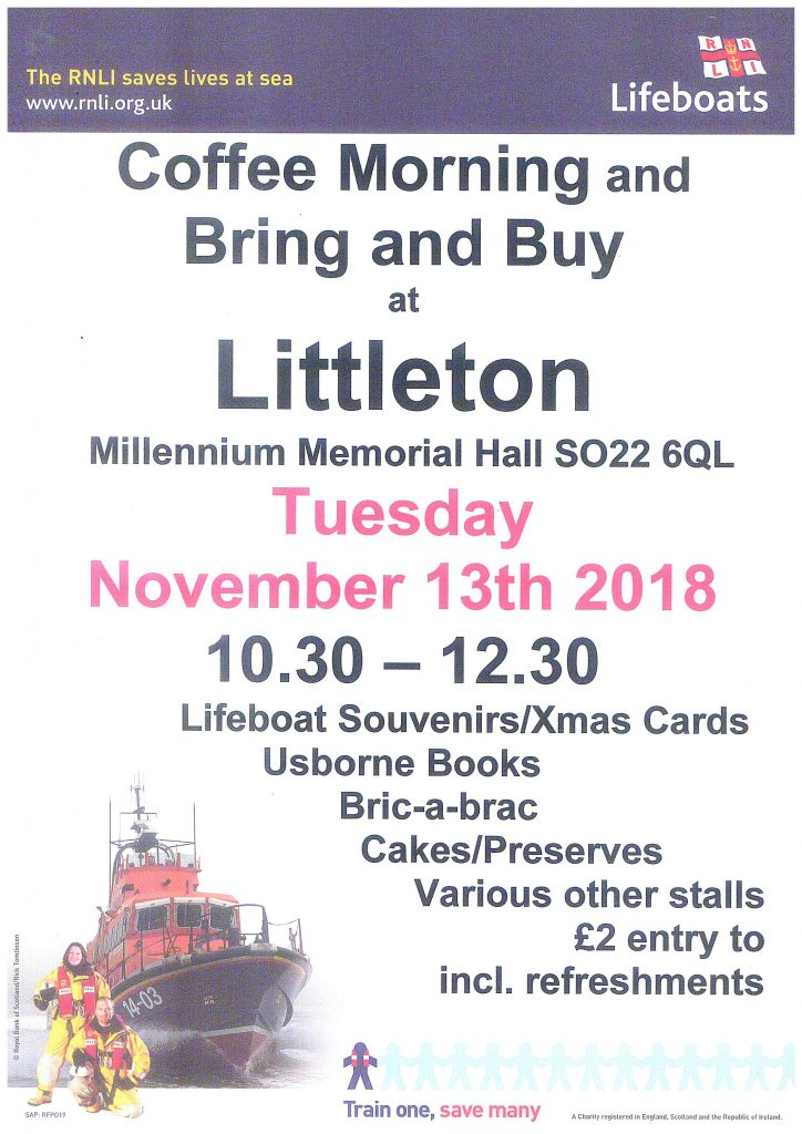Poster with details of RNLI fundraising event