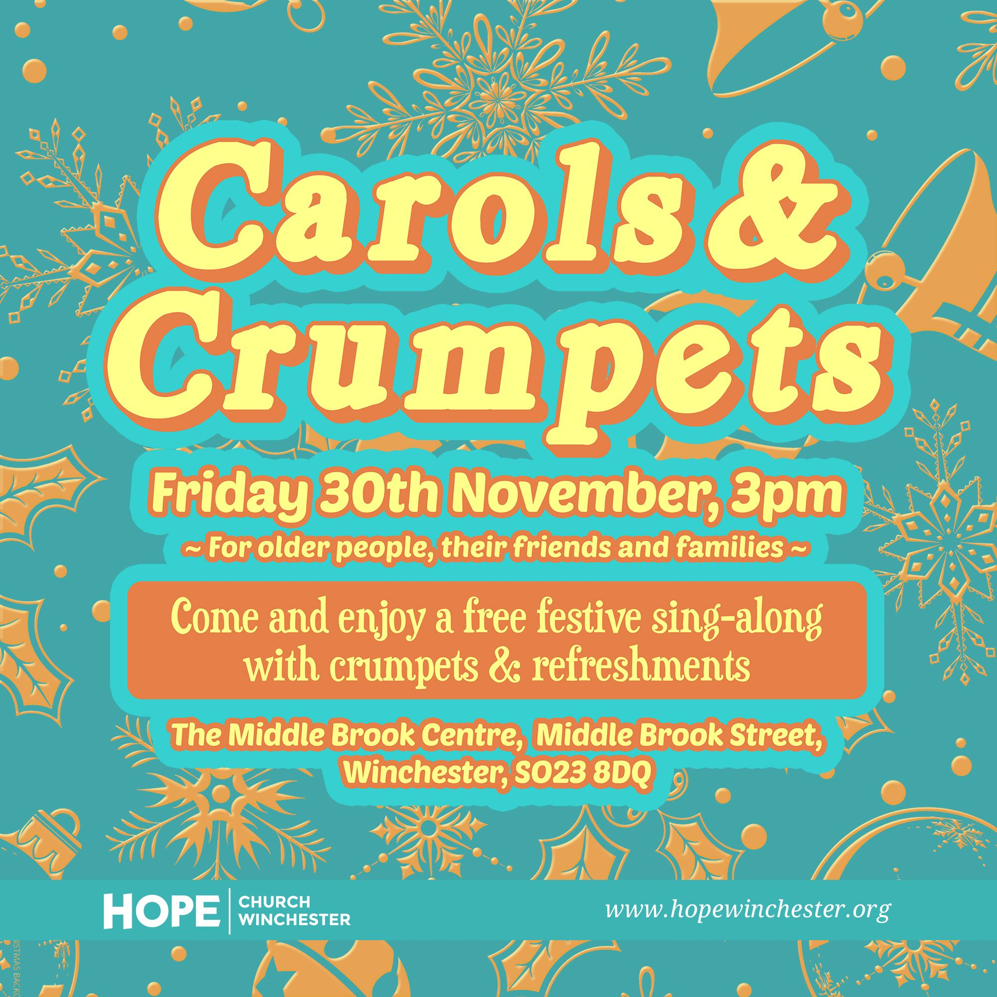 Carols and Crumpets for older people, their friends and families.