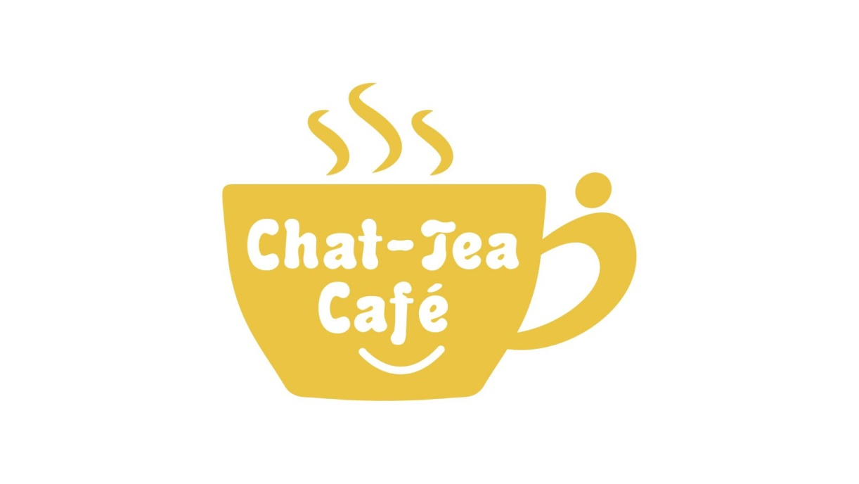 Chat-Tea Cafe Logo - yellow cup and saucer