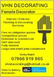 VHN Decorating - Female Decorator - Interior/Exterior Painting and Decorating Services
