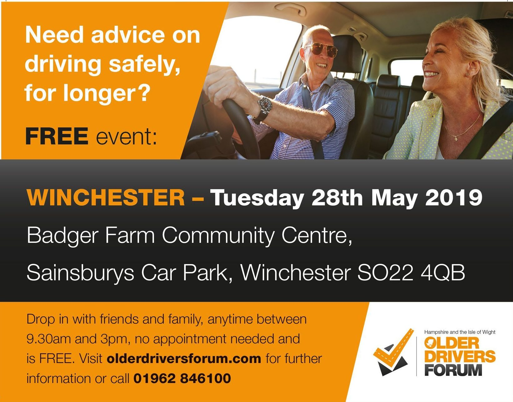 Older drivers forum at Badger Farm Community Centre on 28 May 2019