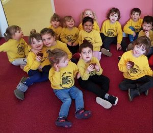 Children from Badger Farm Pre-School