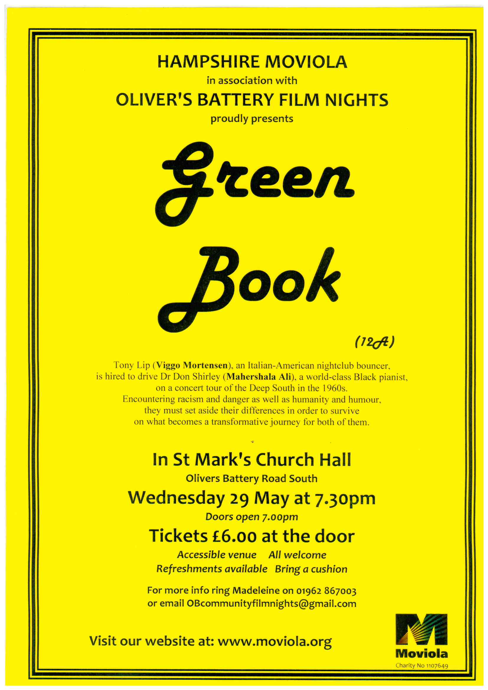 Description and details of film Green Book