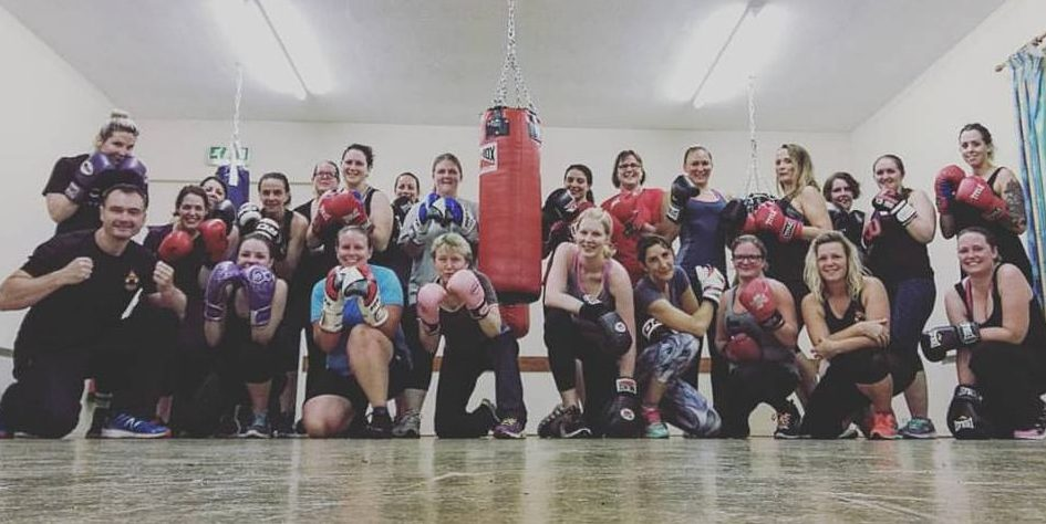 Group of people enjoying a Boxercise Class