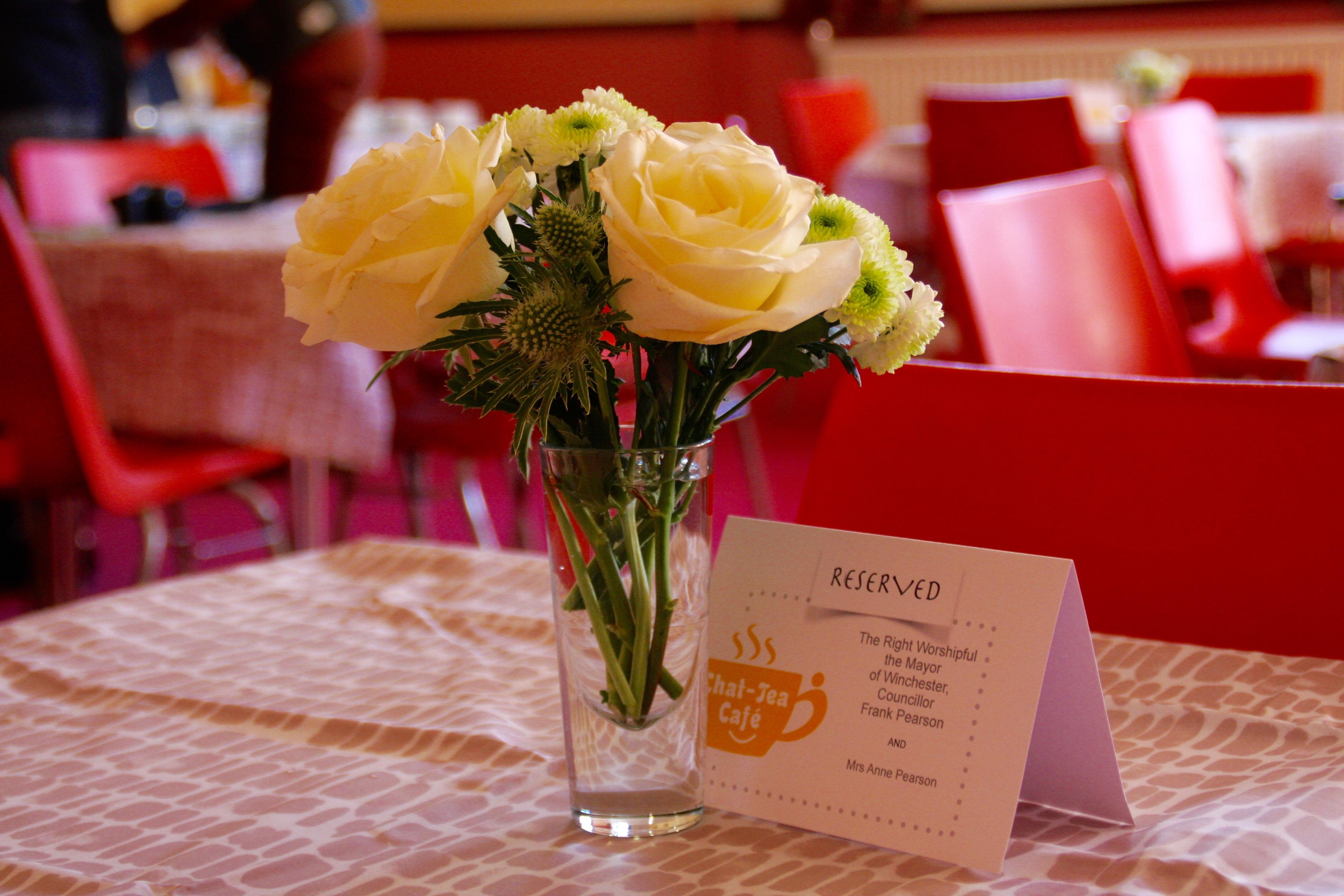 Flowers at the Chat-Tea Café