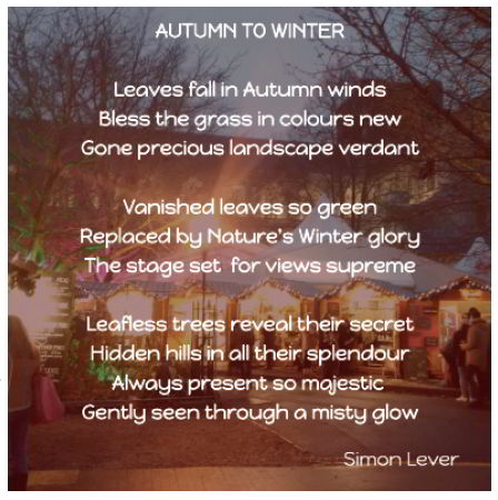 Autumn to Winter - a poem