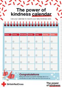 Red Cross Power of Kindness Calendar