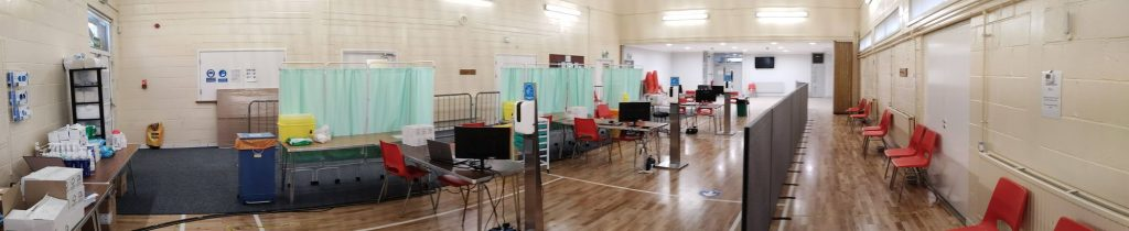The Covid-19 Immunisation Centre at Badger Farm Community Centre in Winchester