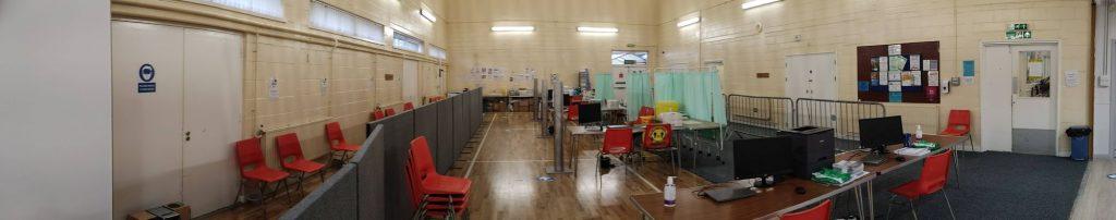 The Immunisation Hub at Badger Farm Community Centre in Winchester.