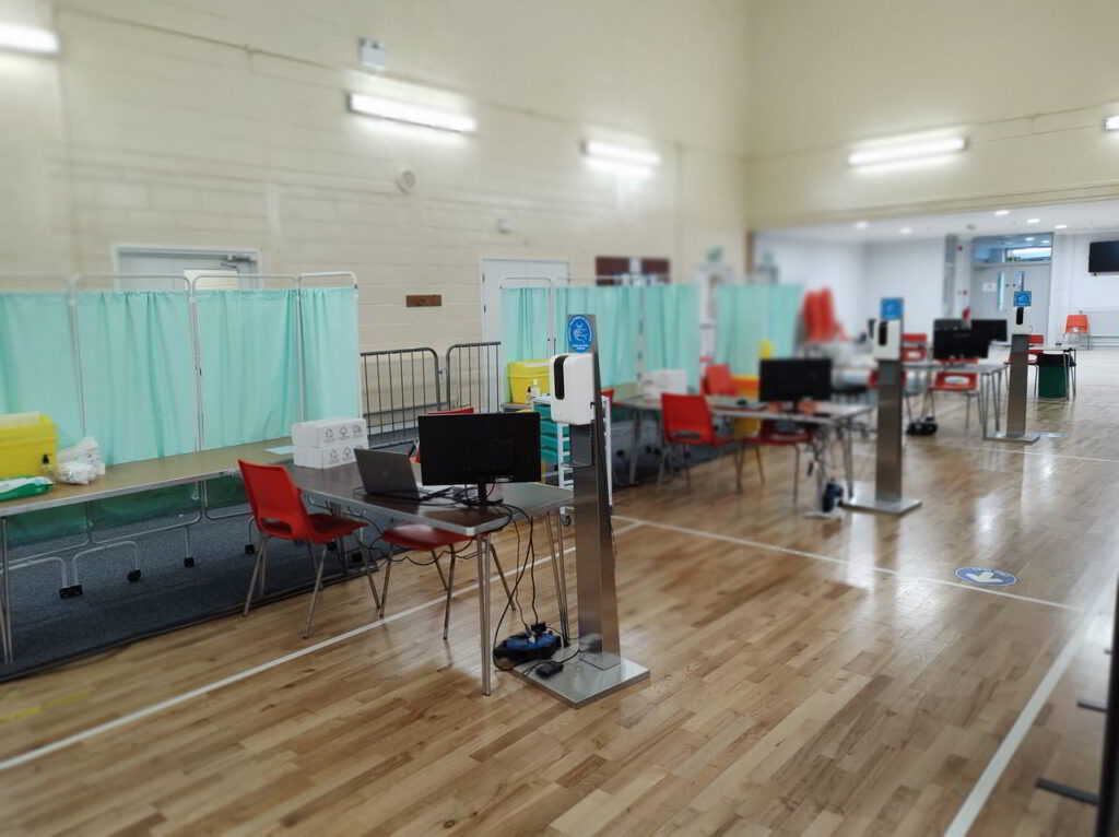 Covid-19 Immunisation Centre at Badger Farm Community Centre in Winchester