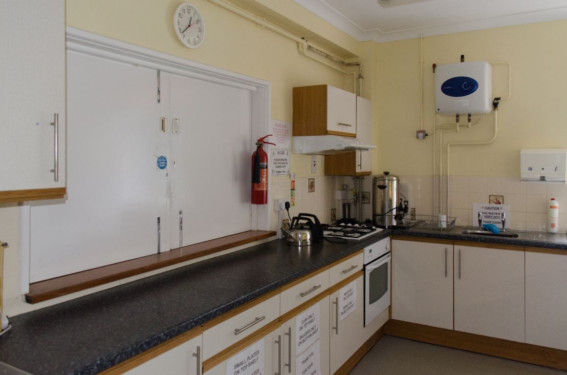The kitchen at the Badger Farm Community Centre