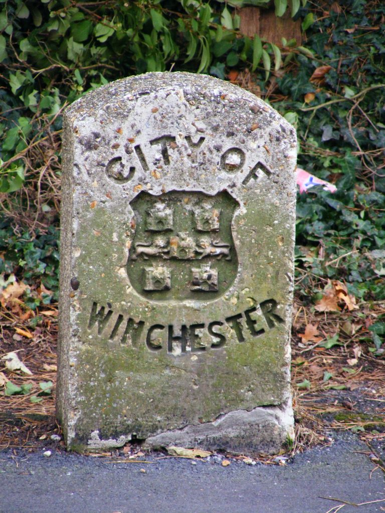 The stone marking the boundary of the city of Winchester