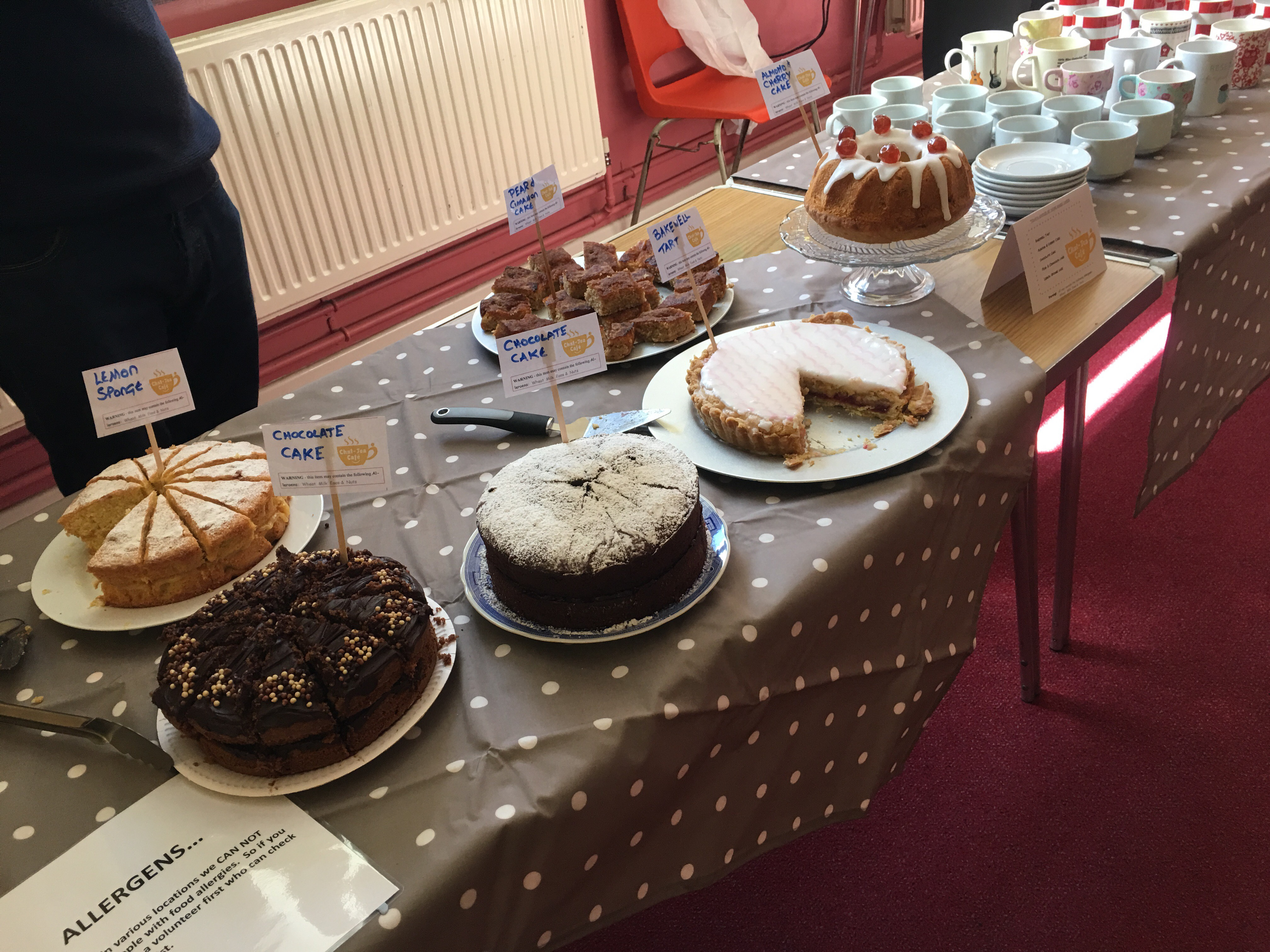 A selection of home made cakes
