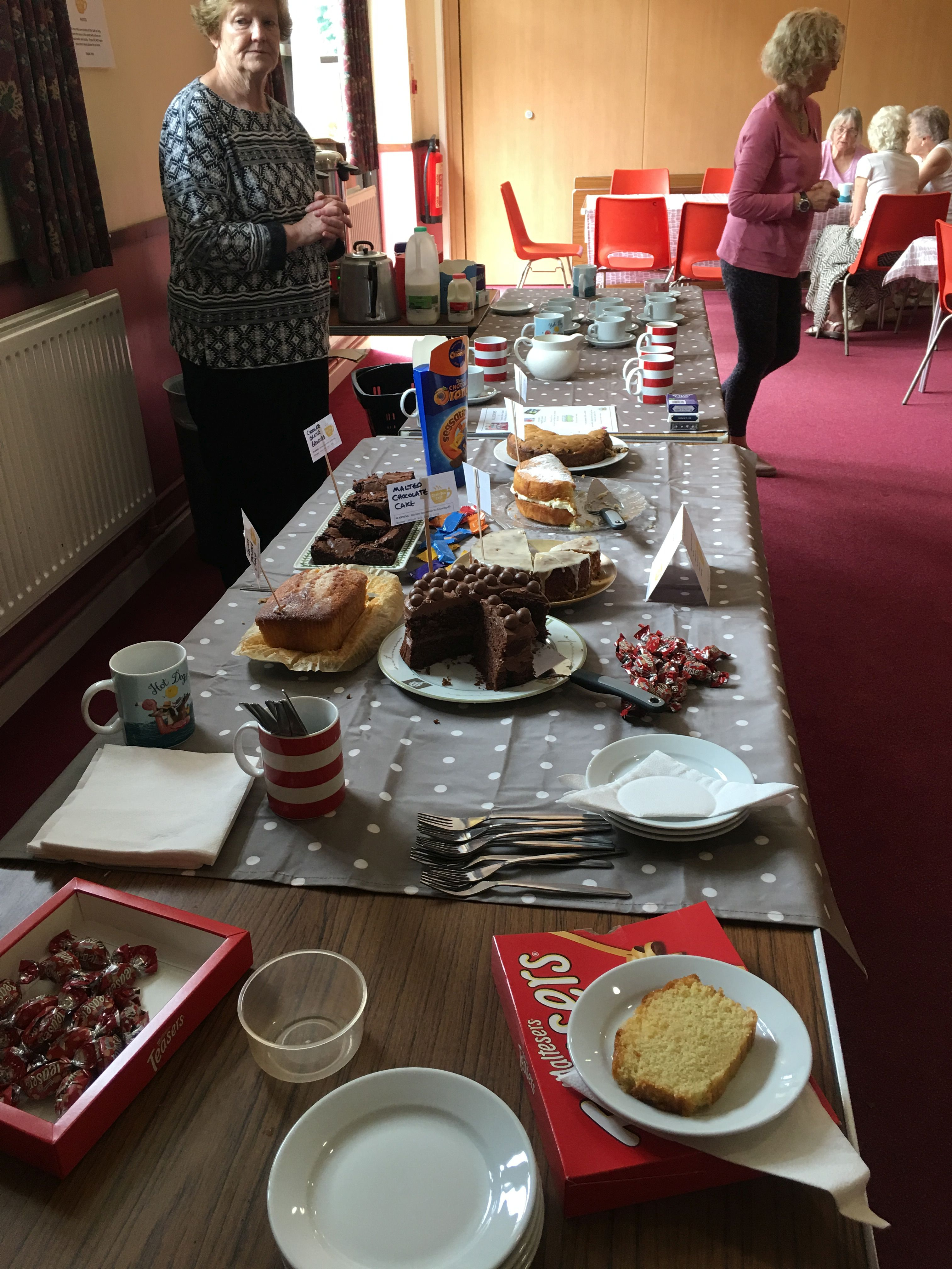 Cakes and Volunteers at the Chat-Tea Café