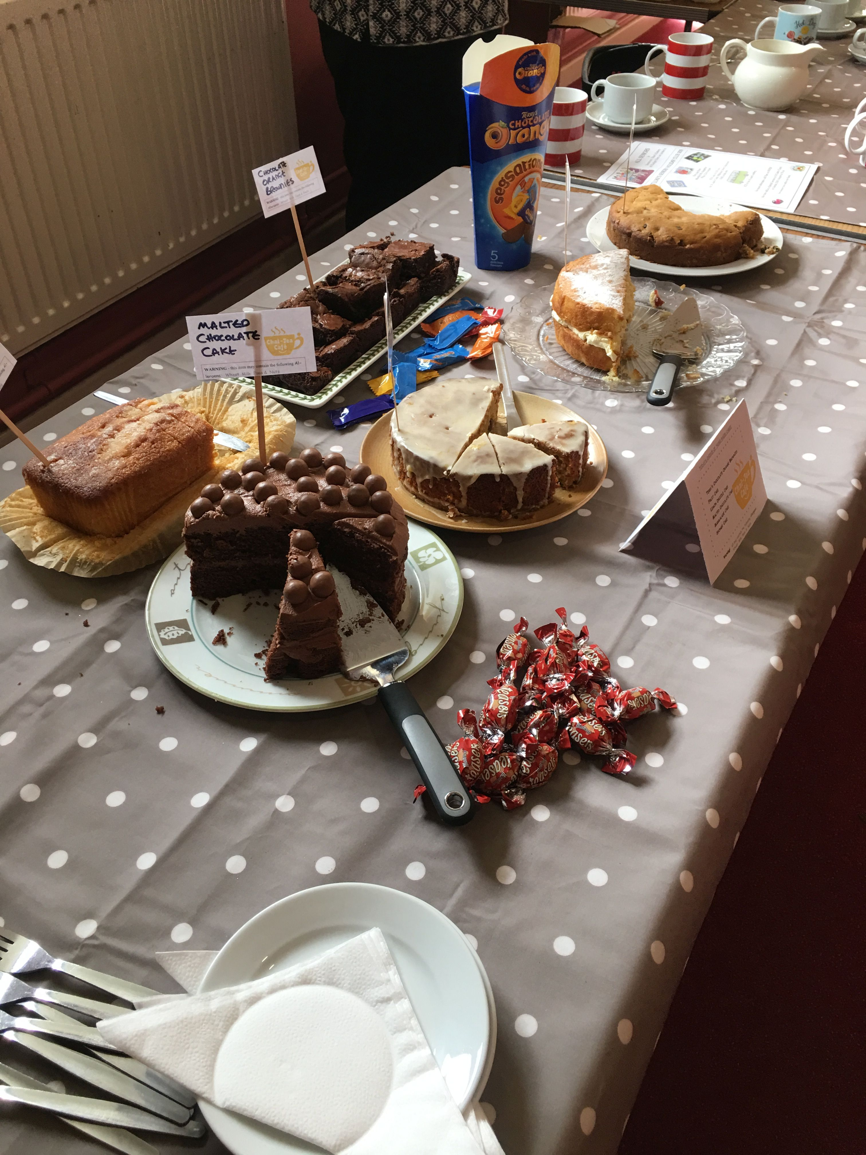 Cakes at the Chat-Tea Café